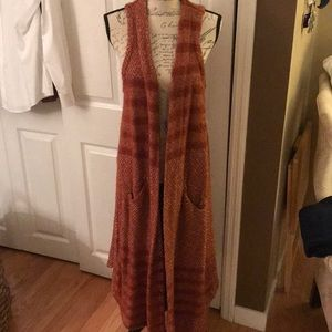 Free People long vest with pockets
